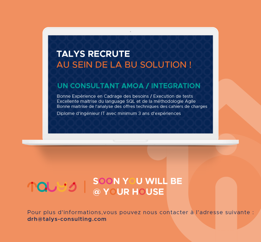 Recrutement Consultant AMOA INTEGRATION